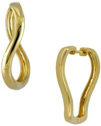 Bony Levy - 14k Yellow Gold Twist Square 25mm Hoop Earrings - Lyst