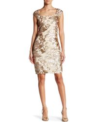 Marina - Cap Sleeve Sequin Dress - Lyst