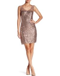 Marina - Illusion Sequined Dress - Lyst