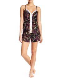 Tahari - Strappy V-neck & Shorts Pajama 2-piece Set - Lyst