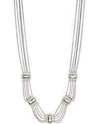 Freida Rothman - Multi-chain Cz Embellished Bib Necklace - Lyst
