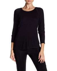 Sam Edelman - Long Sleeve Mesh Back Tee - Lyst
