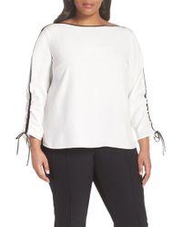 fe6100c21a7047 Lafayette 148 New York - Georgina Matte Silk Blouse (plus Size) - Lyst