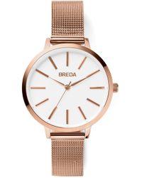 Breda - Women's Joule Mesh Strap Watch, 37mm - Lyst