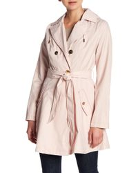 Laundry by Shelli Segal - Belted Hooded Coat - Lyst