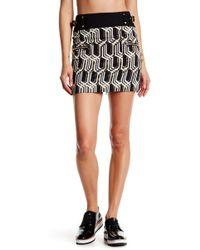 Genetic Denim | Brilliant Metallic Print Zip Skirt | Lyst