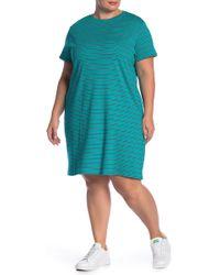 Joe Fresh - Short Sleeve Stripe Print Dress (plus Size) - Lyst