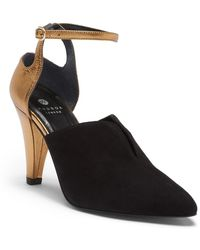 H by Hudson - Noreen Suede Ankle Strap Pump - Lyst