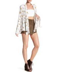 Dress Forum | Faux Suede Wrap Shorts | Lyst