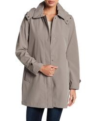 Kenneth Cole - Bonded Hooded Raincoat - Lyst