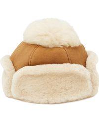 UGG - Genuine Sheepskin Pompom Hat - Lyst