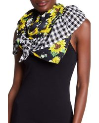Betsey Johnson   Floral Gingham Ruffle Scarf   Lyst