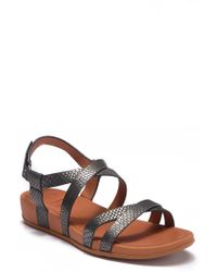 71a68eb4fbf6 Fitflop - Lumy Shimmersnake Leather Sandal - Lyst