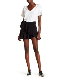 ARRIVE - Dominic Ruffle Stripe Mini Skirt - Lyst