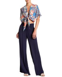 On The Road - Sydney Smocked Wide Leg Pants - Lyst