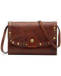 Frye - Melissa Leather Studded Western Crossbody Bag - Lyst