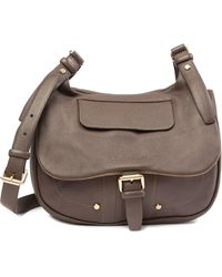 1e3618dcb24 Lyst - Longchamp Balzane Leather Messenger Bag in Brown