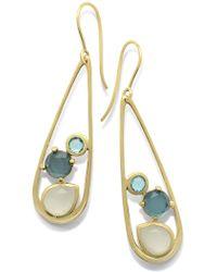 Ippolita - 18k Yellow Gold Rock Candy® Multi Stone Doublet Drop Earrings In Raindrop - Lyst