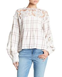 Free People - Darling Diana Lace Top - Lyst
