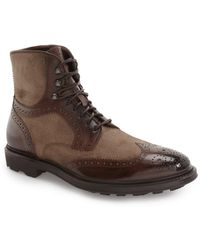 To Boot - 'hobson' Wingtip Boot (men) - Lyst