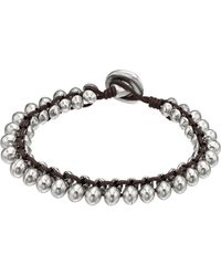 Uno De 50 - Sharpened Beaded Cord Bracelet - Lyst