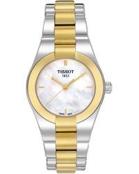 Tissot - Women's T-trend Swiss Quartz Two-tone Bracelet Watch, 28mm - Lyst