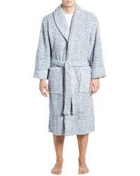 Daniel Buchler - Triple Stripe Fleece Robe - Lyst