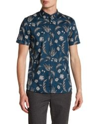Ted Baker - Short Sleeve Statement Print Trim Fit Shirt - Lyst