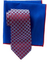 Ted Baker - Circle Flower Neat Silk Tie & Pocket Square Set - Lyst