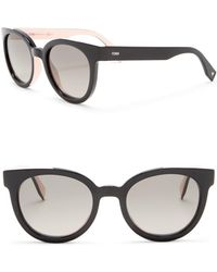 Fendi - Modified Oval 51mm Sunglasses - Lyst