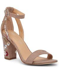 Madden Girl - Binkye Embroidered Block Heel Sandal - Lyst