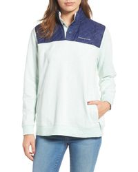 Vineyard Vines - Shep Contrast Quilted Pullover - Lyst