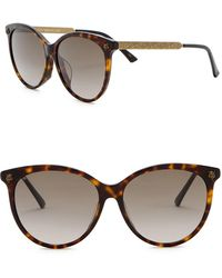 bb77875a77fee Lyst - Gucci 51mm Studded Rounded Sunglasses in Brown