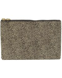 Madewell - The Genuine Calf Hair & Leather Pouch Clutch - Lyst