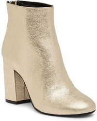 Kenneth Cole - Caylee Patent Leather Metallic Boot - Lyst