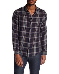 Vince - Classic Plaid Shirt - Lyst