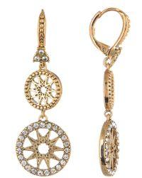 Marchesa - Coin Double Drop Earrings - Lyst