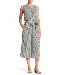 Spense - Striped Sleeveless Jumpsuit - Lyst