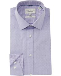Ted Baker - Endurance Slim Fit Herringbone Dress Shirt - Lyst