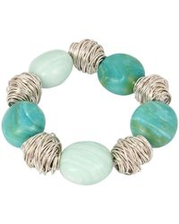 Robert Lee Morris - Wire Wrapped & Stone Beaded Stretch Bracelet - Lyst