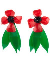 Oscar de la Renta - Daisy Flower Drop Clip On Earrings - Lyst