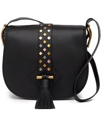Anne Klein - Large Leather Saddle Bag - Lyst
