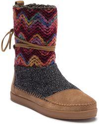 8e42badac55 Lyst - Toms Nepal Oxford Tan Suede Faux Hair Mid-calf Suede Boot