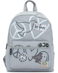 Peace Love World - Nylon Patch Backpack - Lyst