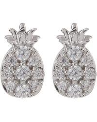 Nadri - Cz Accent Pineapple Stud Earrings - Lyst