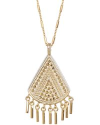 Anna Beck - 18k Gold Plated Sterling Silver Fringe Drop Pendant Necklace - Lyst