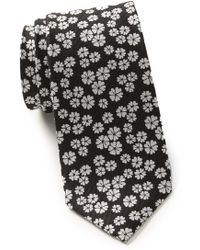 Ben Sherman Mitchel Floral Silk Tie - Black