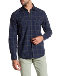James Campbell - Scot Vaquero Plaid Long Sleeve Regular Fit Shirt - Lyst