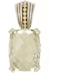 Lagos - Prism Sterling Silver & 18k Yellow Gold Green Amethyst Pendant - Lyst