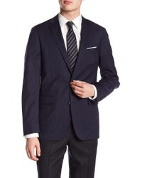 Brooks Brothers - Navy Pinstripe Two Button Wool Sport Coat - Lyst